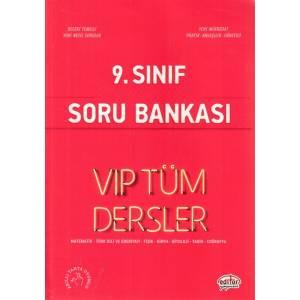 Editör 9. Sınıf Vip Tüm Dersler Soru Bankası Kırmızı Kitap Yeni