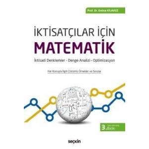 İktisatçılar İçin Matematik İktisadi Denklemler– Denge Analizi – Optimizasyon