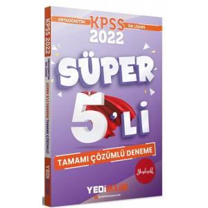 2022 KPSS Ortaöğretim Ön Lisans GY GK Tamamı Çözümlü Süper 5′li