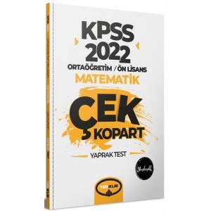 2022 KPSS Ortaöğretim Ön Lisans Genel Yetenek Matematik Çek Kopart Yaprak Test
