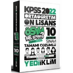 Yediiklim 2022 KPSS Ortaöğretim Ön Lisans GK-GY Tamamı Çözümlü 10 Fasikül Deneme