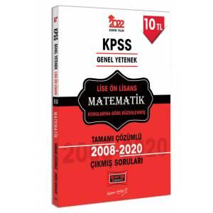 Yargı Yayınları 2022 KPSS GY Lise Ön Lisans Matematik Tamamı Çözümlü Çıkmış Sorular