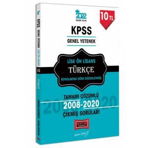 Yargı Yayınları 2022 KPSS GY Lise Ön Lisans Türkçe Tamamı Çözümlü Çıkmış Sorular
