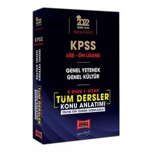 Yargı Yayınları 2022 KPSS Lise Ön Lisans GY GK 5 Ders 1 Kitap Tüm Dersler Konu Anlatımı