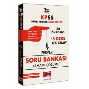 2022 KPSS GY GK Lise Ön Lisans 5 Ders Tek Kitap Perver Tamamı Çözümlü Soru Bankası