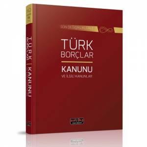 Türk Borçlar Kanunu ve İlgili Kanunlar Dikişli Ciltli