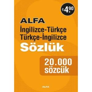 Alfa İngilizce Türkçe - Türkçe İngilizce Sözlük