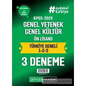 2020 Kpss Genel Yetenek Genel Kültür Ön Lisans Türkiye Geneli Deneme (1.2.3) 3`lü Deneme Seti