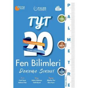 TYT Fen Bilimleri Palmetre 20 Deneme Sınavı Palme Yayıncılık