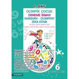 Altın Nokta 6. Sınıf Olimpik Çocuk Deneme Sınavı Kanguru Olimpiyat Zeka Kitabı