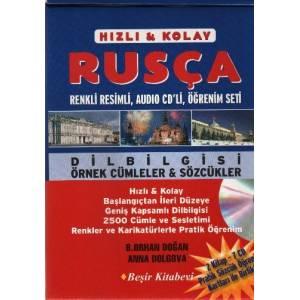 Hızlı Kolay Rusça Öğrenim Seti 2 Kitap 3 Cd Pratik Öğrenim Kartları Ile Birlikte